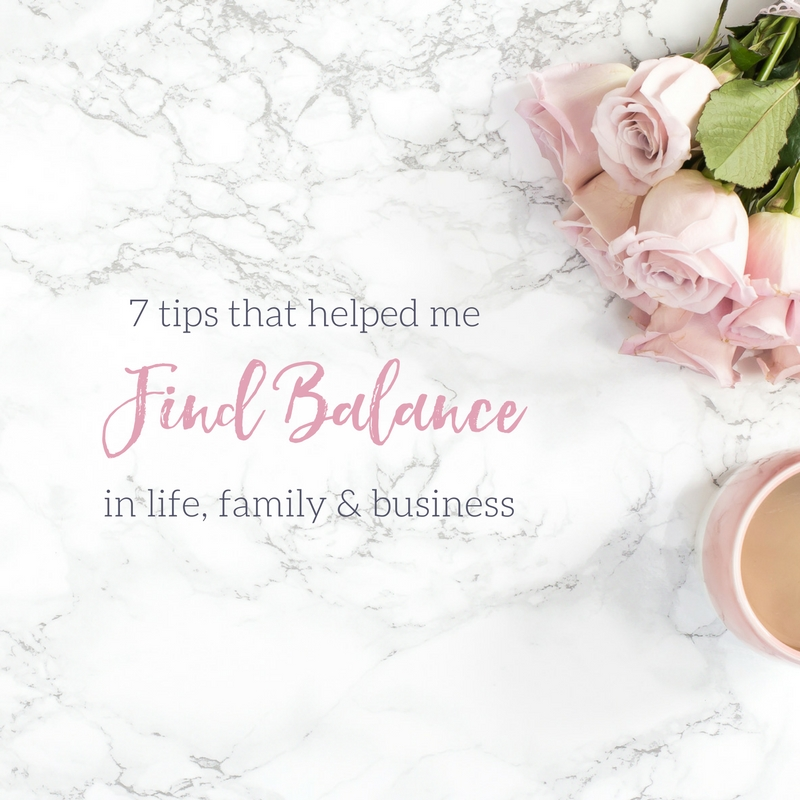 finding balance in life family & business