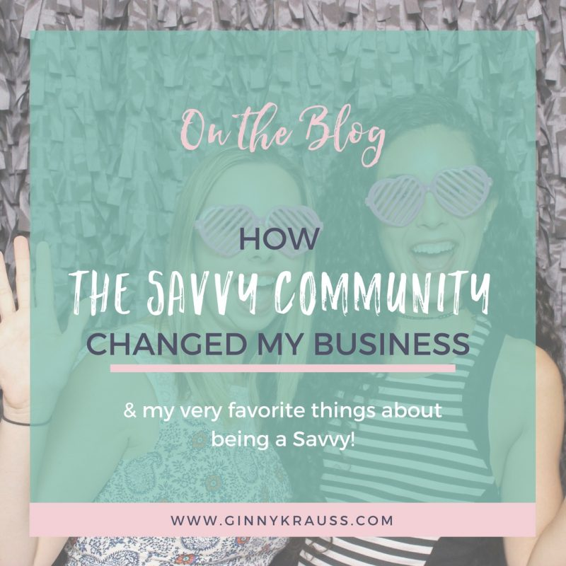 How The Savvy Community Changed My Business
